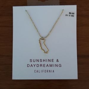 NEW! California State Gold Necklace